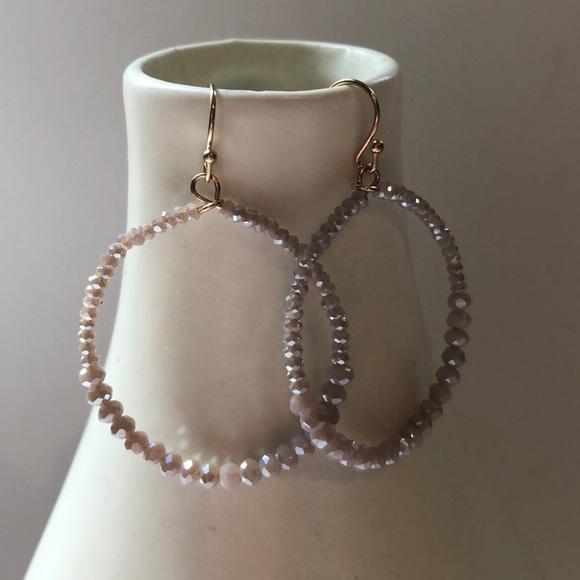 Jewelry - Beaded hoop earrings